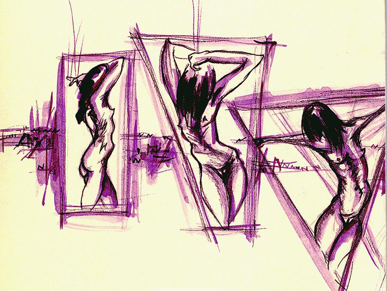 Dibuix contraportada d'Irene Gracia